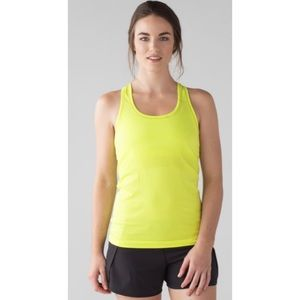 Lululemon Swiftly Tech Racerback Neon Athletic Top